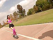 Petite And Skinny Cutie Amai Liu Rides On A Hard Member