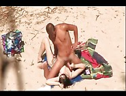 A Peeper Videotapes Couples Fucking At Nude Beaches