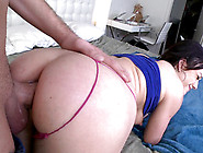 Jennifer White Removes Her Red Panties To Feel Cock Sliding Down