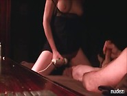 Wife Rides Dildo Attached To His Leg
