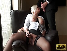 British Blonde Mature With Huge Titties Uses Dildo In Front Of M