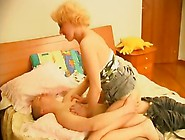 Older Lady Fucking A Younger Man In Bed