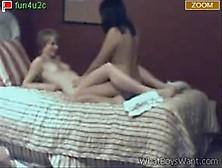 2 Teens Playing And Kissing On Stickam