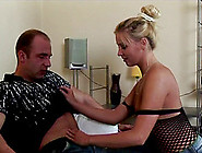 Magnificent Blonde In Enticing Fishnet Enjoys Getting Hammered D