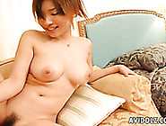 Fluffy Pale Skin Japanese Chick You Rides Her Mate's Tiny Dick