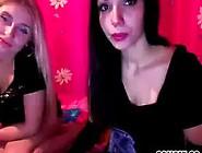 Two Pretty Girls Dancing On Web Cam