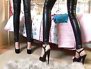 Classy Ladies In Latex Pants Are Being Very Naughty Today,  Just