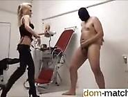 Sado Domina Kicks Her Poor Man Slaves Balls Hard