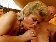 Bootylicious Fat Blond Mature Whore In Stockings Sucks A Strong