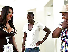 Curvaceous Maid Gets Pounded By Big Cocked Black Dude