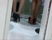 Nylon Feet And Shoeplay From Hostesses...