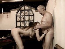 German Old Milf And Old Man Dp She Even Climbs His Ladder To