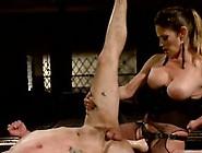 Ball Tortured Bloke Hanging Upside Down And Having Wazoo Shaged