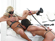 Dominant Steamy Hot Blonde Calls A Friend Over To Dike Out With