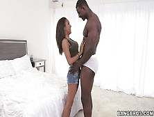Sizzling Babe Nicole Bexley Encircling Big Black Dick With Lips