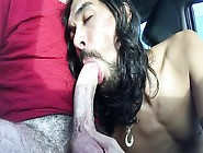 Car Cock Suck Deepthroat And Swallow Cum