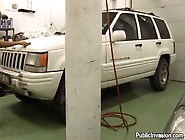 Wild Blonde Gets Fucked In The Garage