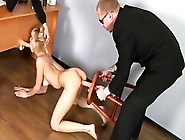 Girl In Stockings Demonstrates Her Body And Masturbation Skills