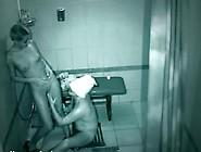 The Smoking Hot Blonde Has Funtime Near The Boy Inside A Bathroo