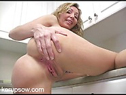 Naked Housewife With Great Tits Hangs Out In Her Kitchen