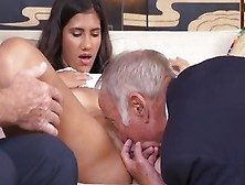 Teen Victoria Valencia Lets Grandpas Feast On Her Body