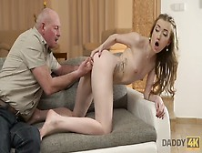 Daddy4K.  Sweet Euro Chick Moans During Forbidden Sex With Bfs Daddy