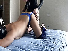 Hot Amateur Wifey Strap-On Hard Pegging,  Asslicking