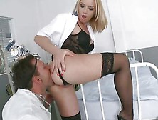Kathia Nobili Hot Chick Let A Horny Doctor Lick Her Ass