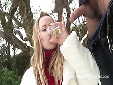 Piss Drinking,  Girl Swallowing Stinky Yellow Master's Pee &
