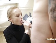 First-Class Blowjob And Wank Cock With Swallow Sperm From Blonde