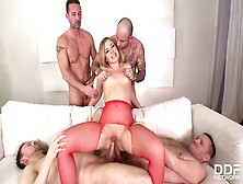 Extreme Gangbang Makes Her Scream