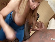 Chubby Blonde Milf Gets Rough Fucked By Massive Black Guy