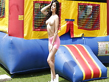 Savannah Sixx Is Banged In Bouncy Castle And At Home