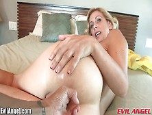 Blonde Milf Orgasms From Anal Fuck