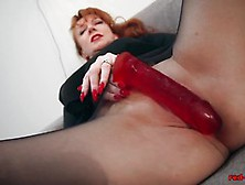 Sexy Red Xxx Solo Play In Nylons And Lingerie