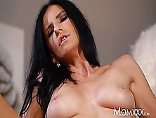 Seductive European Milf Brunette,  Aria Rossi Is Riding A Hard Co