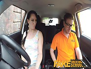 Fake Driving School Messy Creampie Climax For Sexy Cheating Lear