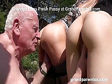 Rejuvenating Grandpa's Worn Out Cock With Granny