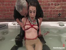 Slave Girl Sasha Grey Is Tied Up And Pushed Under Water