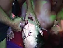 extreme hot girls in a wild german amateur swinger club groupsex bukkake party