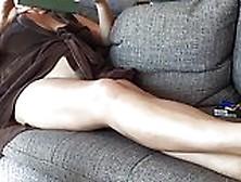 Down blouse voyeur of milf in bathrobe