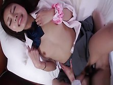 Honey Japanese Teenager Sakura Anna Is In Love With Creampie