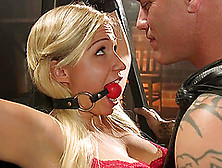 Bdsm And A Slave Role Is Amazing Experience With Blonde Girl Gab