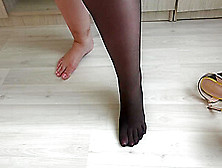 Thick Legs Like Different Shoes With High Heels And Like Nylon.