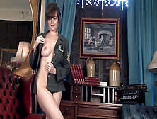 Kate Anne Takes Off Her Military Uniform Today - Compilation - Wearehairy