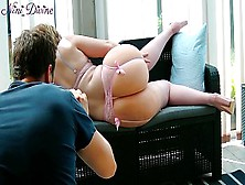 French Model In Charming Lingerie Gets Paid Get Drilled Her Gigantic Butt By The Director!