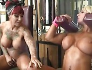 Dani Andrews And Megan Avalon In The Gym Can't Stop Touchin