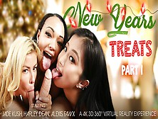 Alexis Fawx & Harley Dean & Jade Kush In New Year's Treats Part