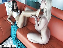 Ceara Lynch - Foot Worship With Anikka Albrite