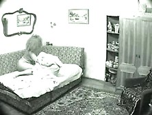 Christian whore caught furiously masterbating on hidden cam